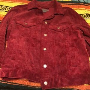 Burgundy/reddish corduroy jacket